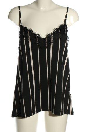 Amisu Strappy Top black-white allover print casual look