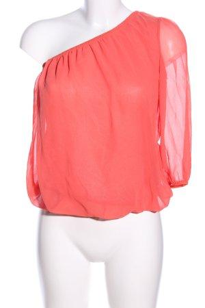 Amisu Transparenz-Bluse rot Elegant