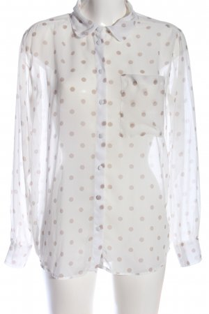 Amisu Transparent Blouse white-brown spot pattern business style