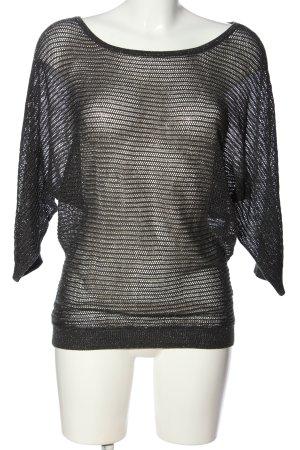 Amisu Transparenz-Bluse schwarz schlichter Stil