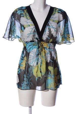Amisu Transparenz-Bluse Allover-Druck Street-Fashion-Look