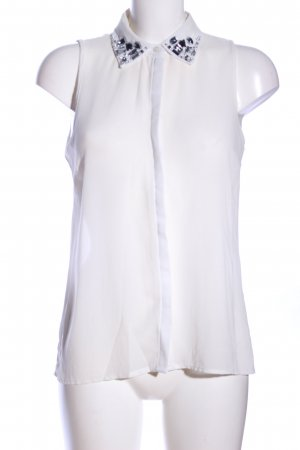 Amisu Transparenz-Bluse weiß Casual-Look
