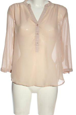 Amisu Transparentna bluzka w kolorze białej wełny Elegancki