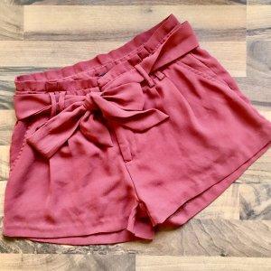 ❤️AMISU❤️ trendy Shorts mit Gürtel Bindeband Gr. 34 rost  top!