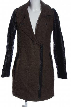 Amisu Płaszcz przejściowy brązowy-czarny W stylu casual