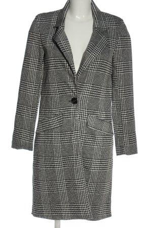 Amisu Between-Seasons-Coat black-white allover print casual look