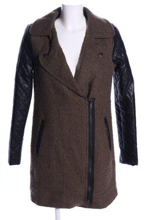 Amisu Manteau mi-saison brun-noir style décontracté