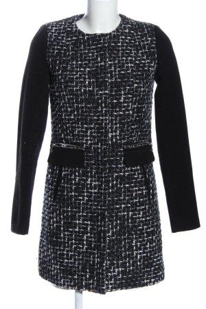 Amisu Between-Seasons-Coat black-white casual look