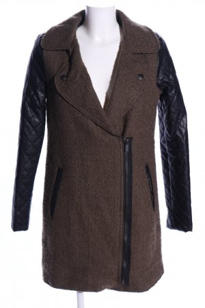 Amisu Übergangsmantel braun-schwarz Casual-Look