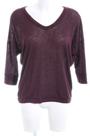 Amisu V-Ausschnitt-Pullover rot meliert Casual-Look