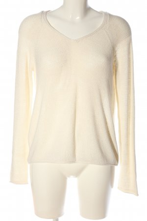 Amisu V-Ausschnitt-Pullover wollweiß Casual-Look