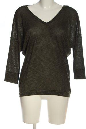 Amisu V-Ausschnitt-Pullover khaki Casual-Look