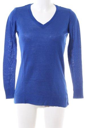 Amisu V-Ausschnitt-Pullover blau Casual-Look