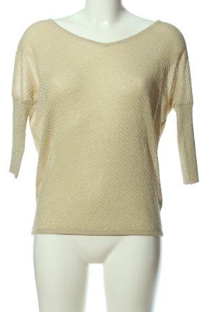 Amisu V-Ausschnitt-Pullover goldfarben Casual-Look