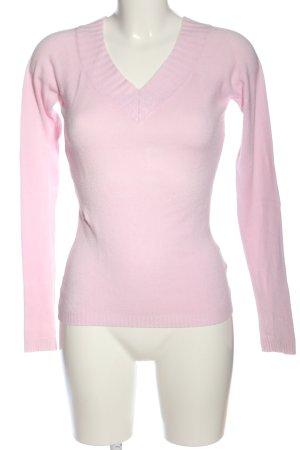 Amisu V-Ausschnitt-Pullover pink Casual-Look