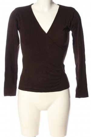 Amisu V-Ausschnitt-Pullover braun Casual-Look