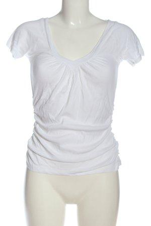 Amisu T-shirt col en V blanc style décontracté