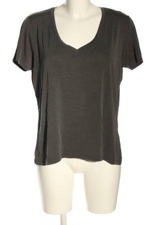 Amisu V-Ausschnitt-Shirt hellgrau Casual-Look