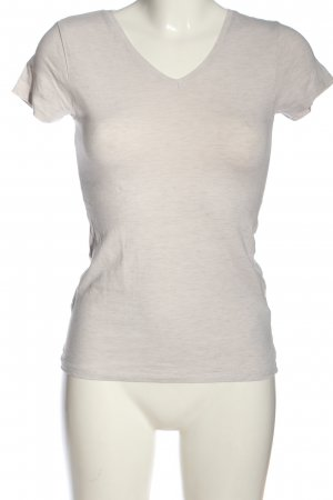 Amisu V-Neck Shirt natural white flecked casual look