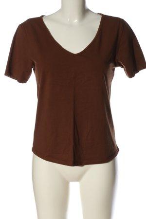 Amisu V-Neck Shirt brown casual look