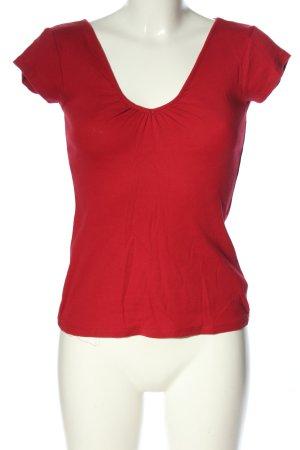 Amisu Camisa con cuello V rojo look casual
