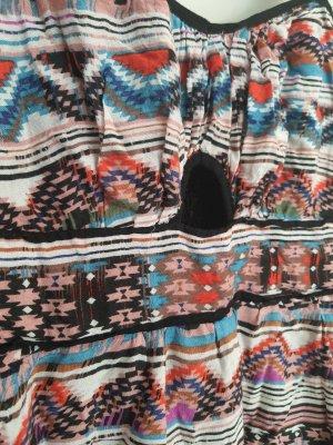 Amisu Asymetryczna sukienka Wielokolorowy