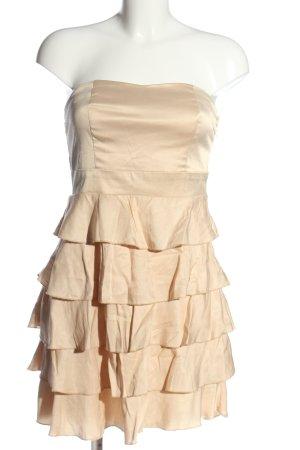 Amisu Flounce Dress cream elegant