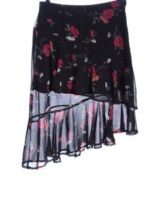 Amisu Spódnica z falbanami Wzór w kwiaty W stylu casual