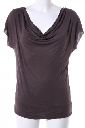 Amisu Cowl-Neck Shirt lilac casual look