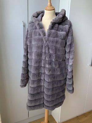 Amisu Abrigo de piel sintética gris