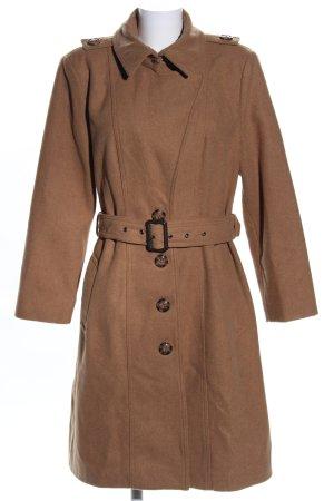 Amisu Wintermantel bronzefarben Business-Look
