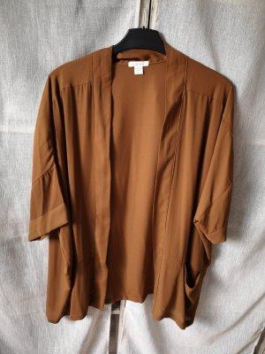 Amisu XS/S Cognac Braun Poncho Cape one size oversized Cardigan