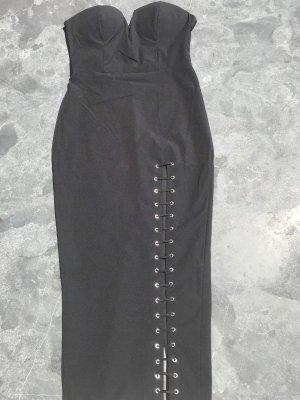 Sukienka gorsetowa czarny Elastan