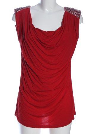 Amor & Psyche Blusa senza maniche rosso stile classico