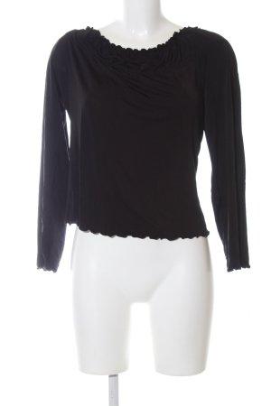 Amor & Psyche Carmen blouse zwart casual uitstraling