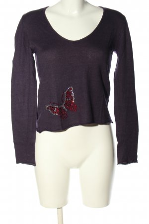 Amor & Psyche Cashmere Jumper lilac casual look