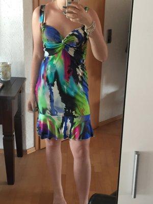 Amor & Psyche Robe à bretelles multicolore