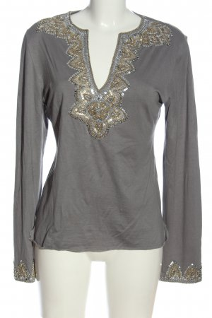 Amor & Psyche Long Sleeve Blouse light grey casual look