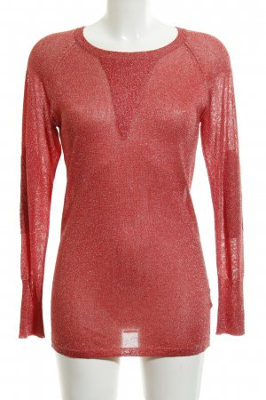 Amor & Psyche Longsleeve bright red-silver-colored flecked casual look