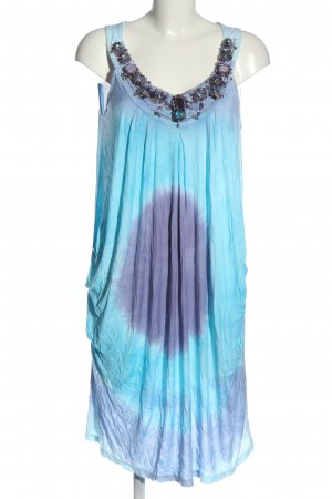 Amor & Psyche Tunic Dress turquoise-lilac color gradient casual look