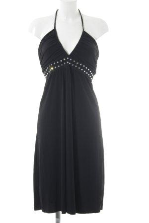 Amor & Psyche Halter Dress black party style