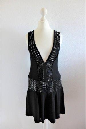 Amor & Psyche Party Gatsby Flapper sexy Kleid schwarz Nieten Gr. S 34 36