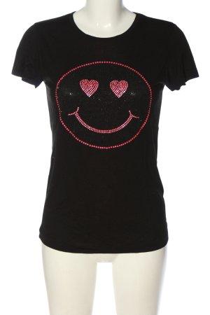 Amor & Psyche Print Shirt black themed print casual look