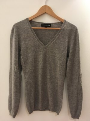 Amor & Psyche V-Neck Sweater grey wool