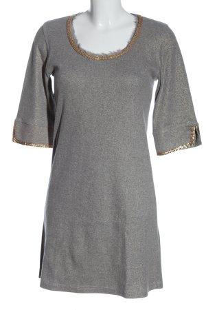 Amor & Psyche Abito maglione grigio chiaro puntinato stile professionale
