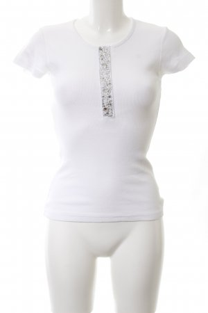 Amor & Psyche Ribbed Shirt white casual look