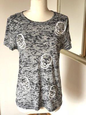 Amor & Psyche T-shirt argento-nero Cotone