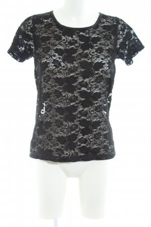 Amor & Psyche Lace Top black casual look