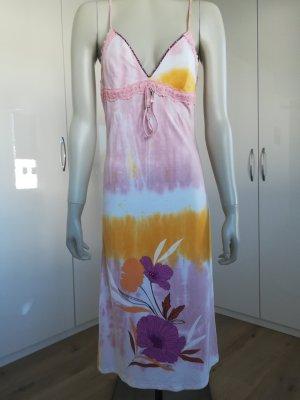 Amor & Psyche Robe mi-longue orange clair-rose