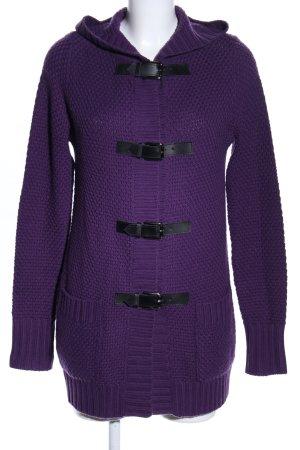 Amor & Psyche Cardigan in maglia lilla-nero stile casual